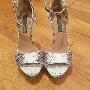 Snakeskin stilletos